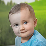 baby skin retouching