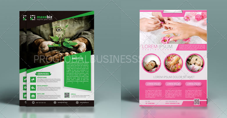 professional custom flyer design services company pgbs