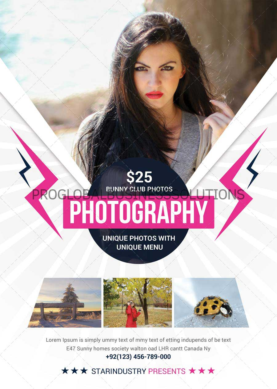 Photography Flyer design