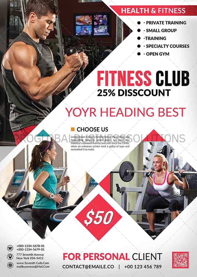 fitness flyer design services proglobalbusinesssolutions