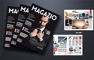 Magazine cover design services