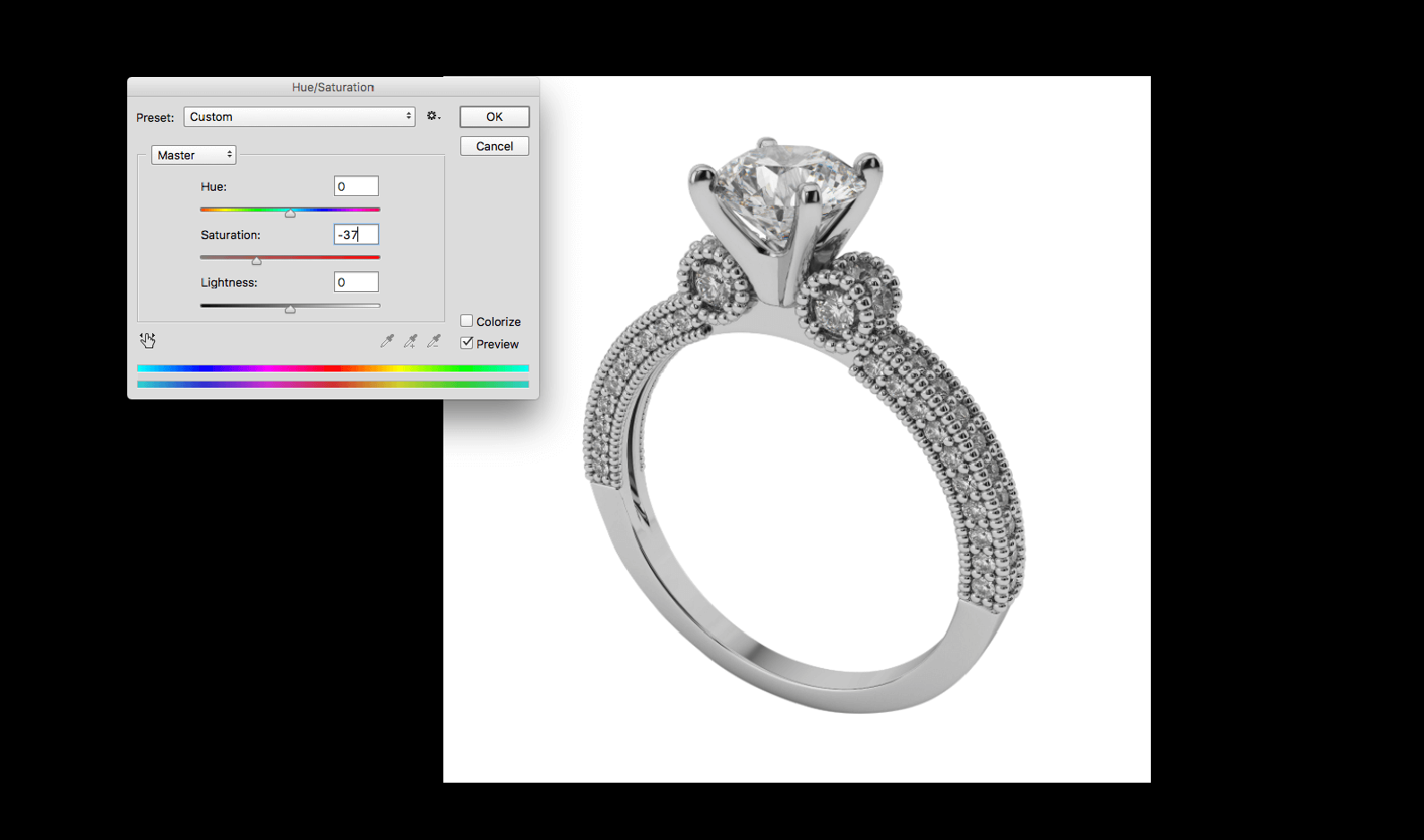 jewellery photo editing in photoshop