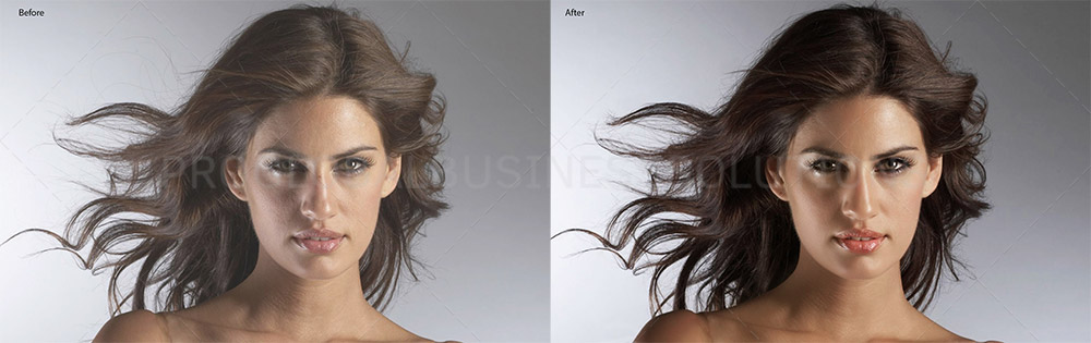 headshot photo retouching