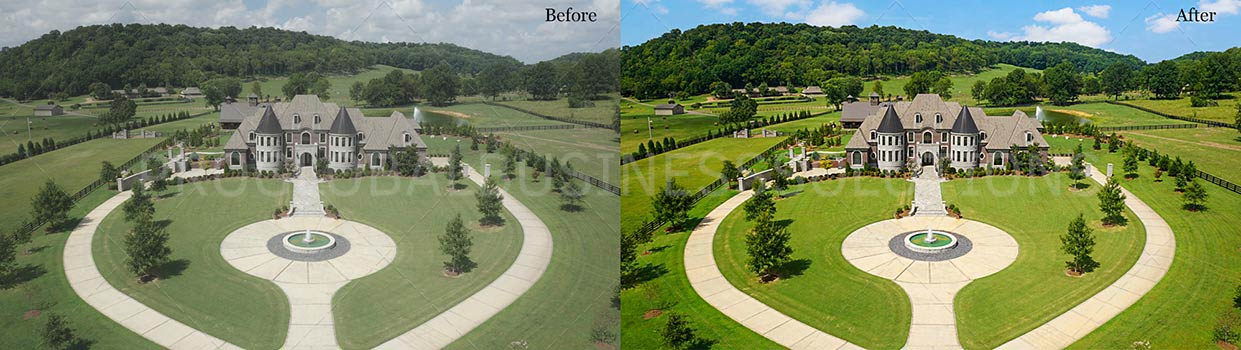 Drone image editing services | Aerial photo editing | PGBS