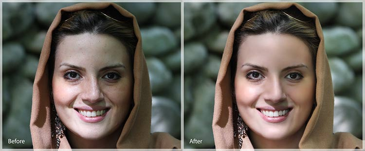 portrait photo retouching in lightroom