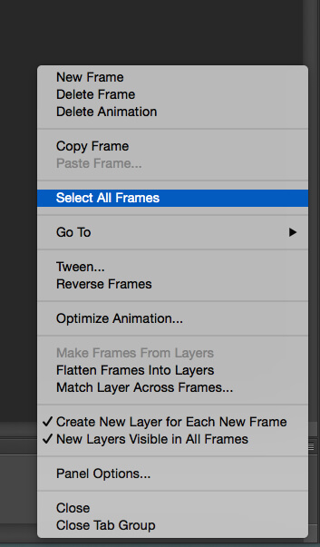 Select All Frames Option