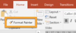 format painter option in Powerpoint