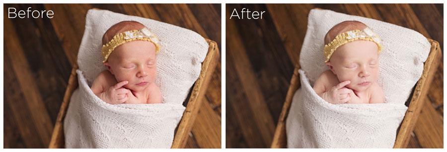 Photoshop newborn editing