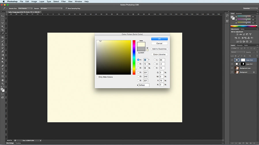 Color fill layer option