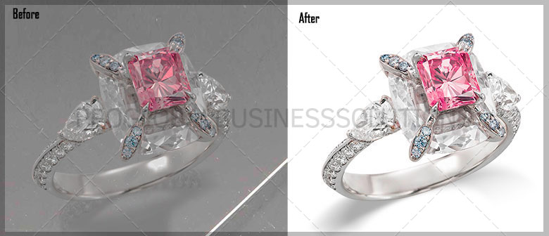 Product photo retouching