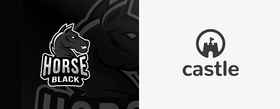 black color logos