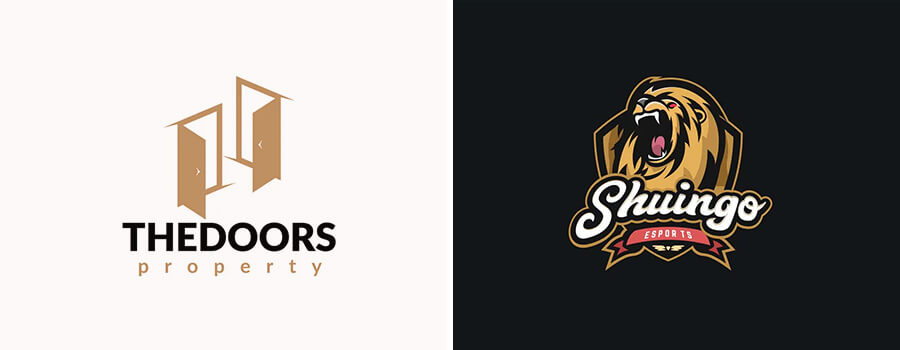 brown color logos