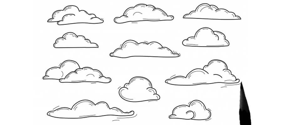 drawing sky and clouds