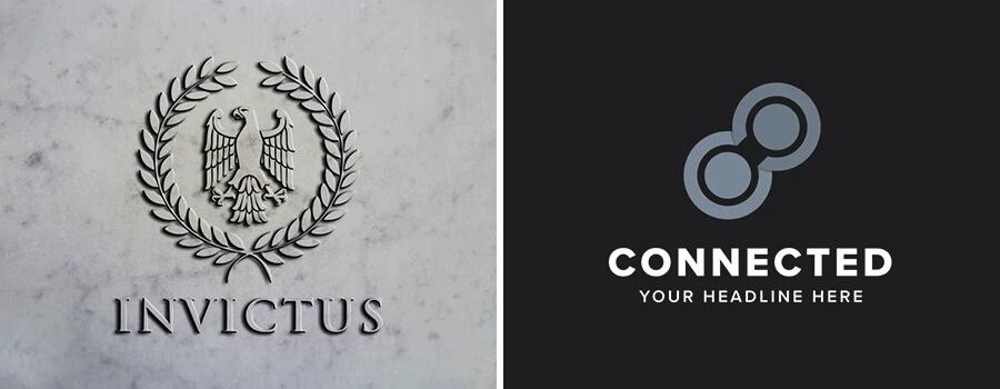 gray color logos