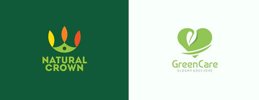 green color logos