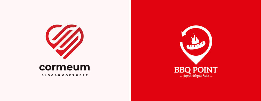 red color logos