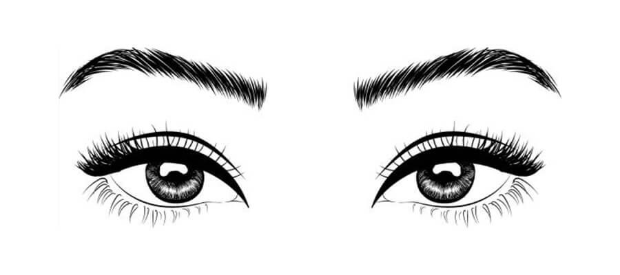 sketching eyes
