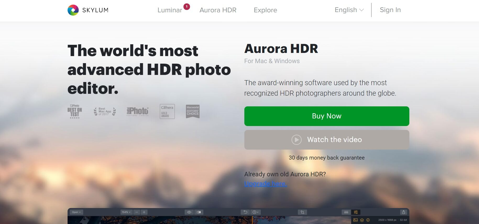 Skylum Aurora HDR
