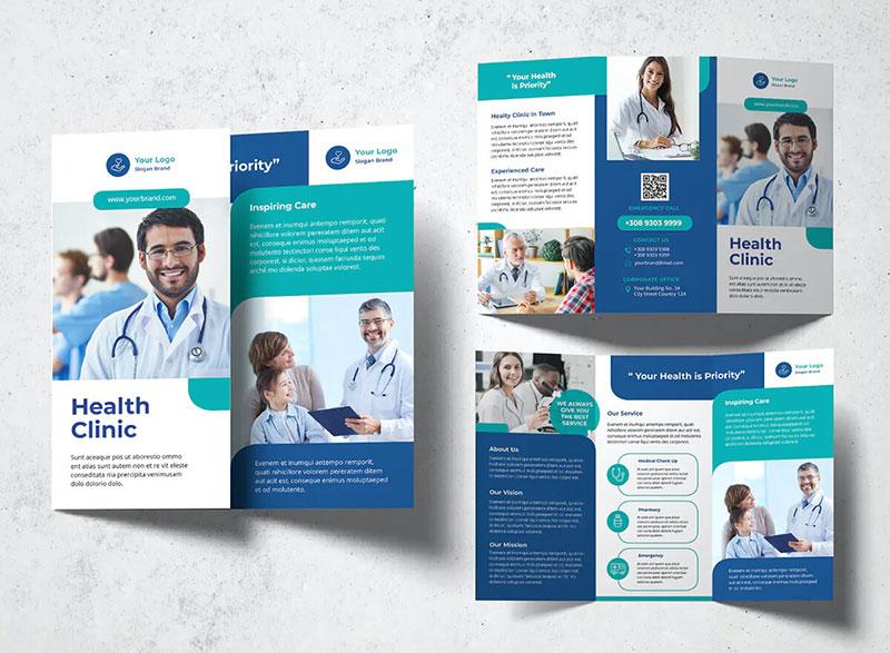 tri fold brochure healthcare