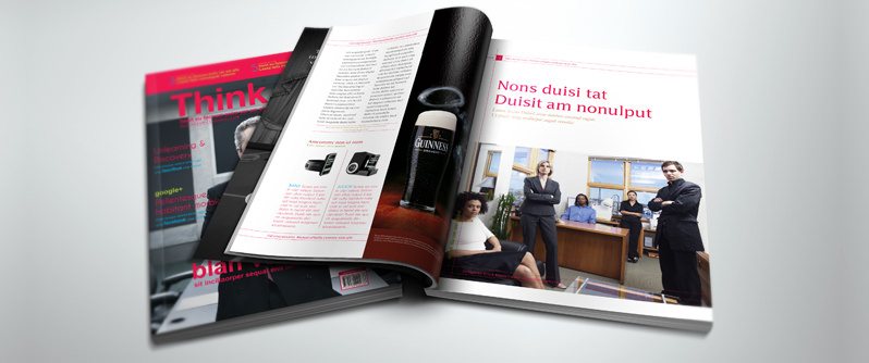 Corporate magazine design