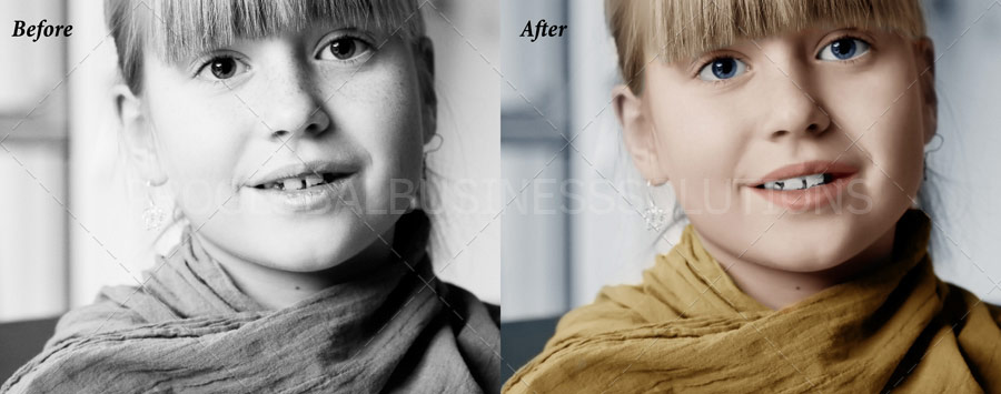 black and white image conversion