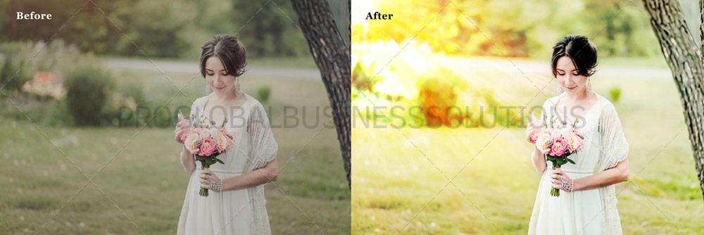 Sample of Wedding Photography Edit