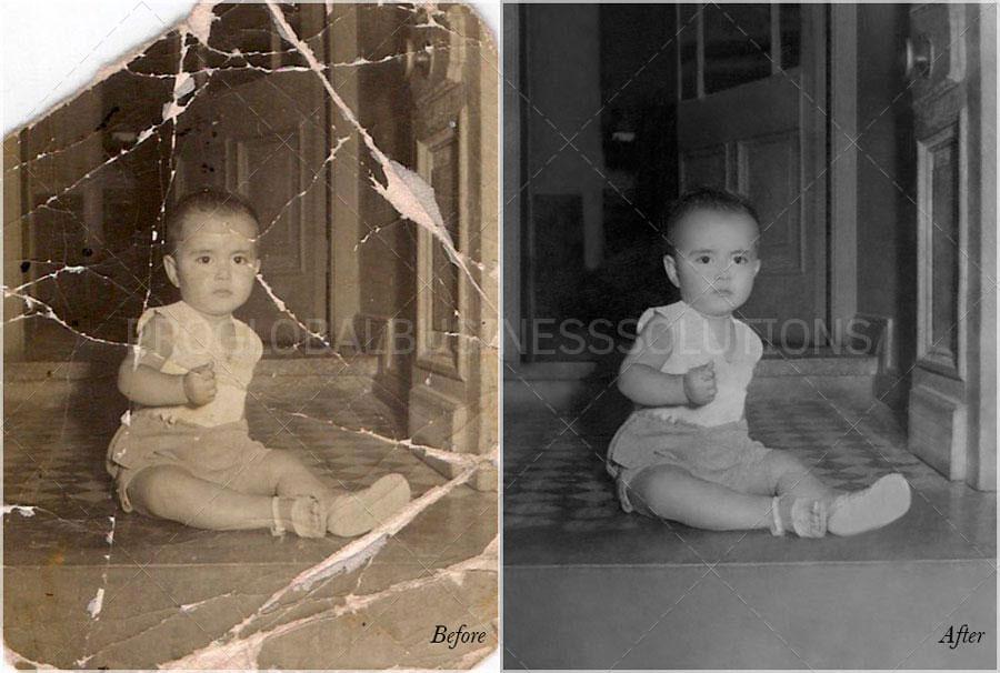 damaged image restoration
