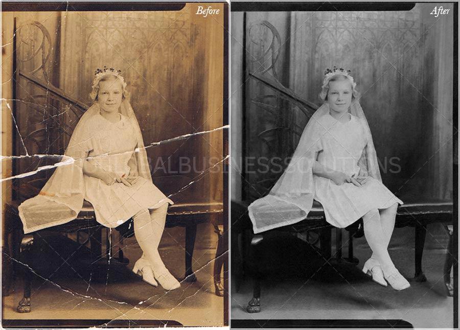 cracked photo restoration