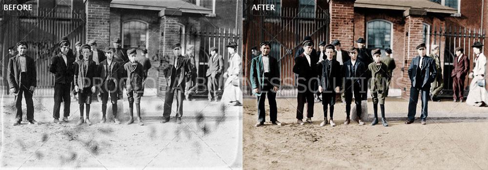 photo restoration and colorization