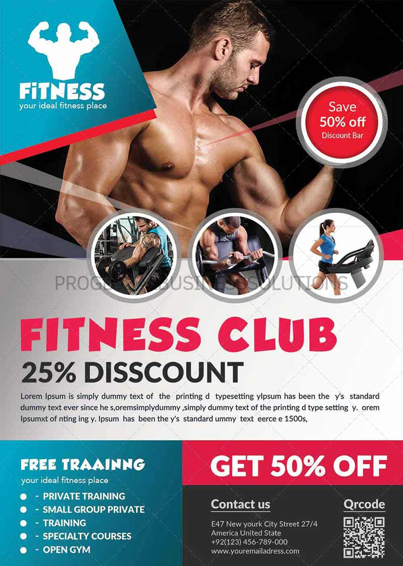 Fitness flyer design services | proglobalbusinesssolutions