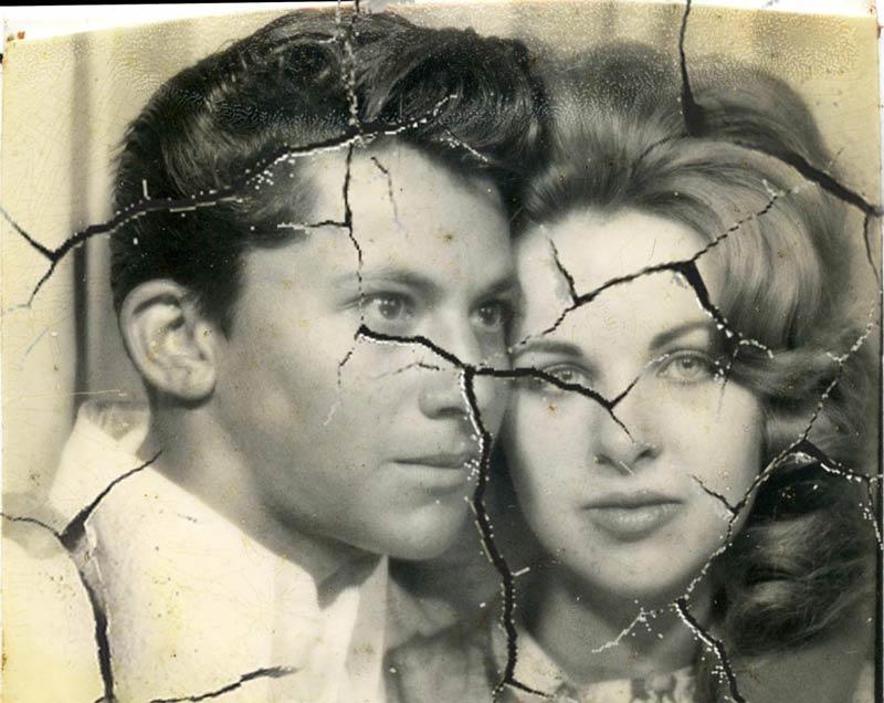 old damaged photos
