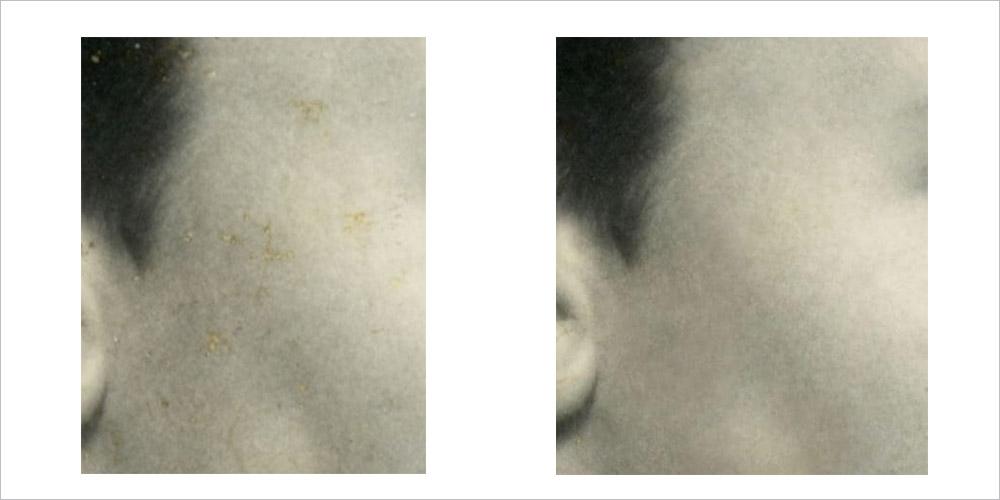 fixing damaged portion of image