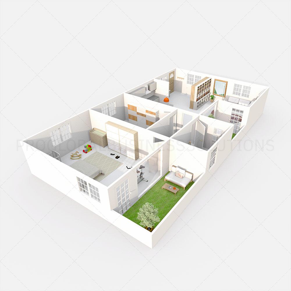 2D to 3D Floor Plan Conversion