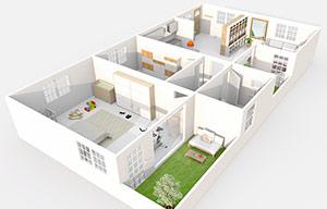 3D floor plan featured