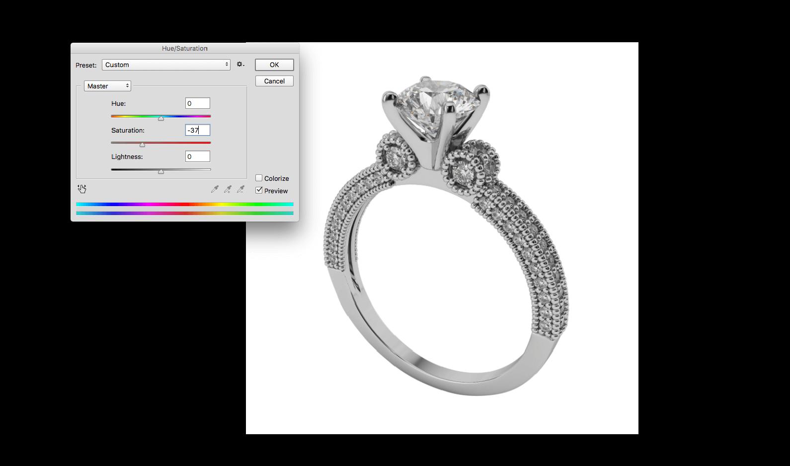 jewellery photo editing in photoshop