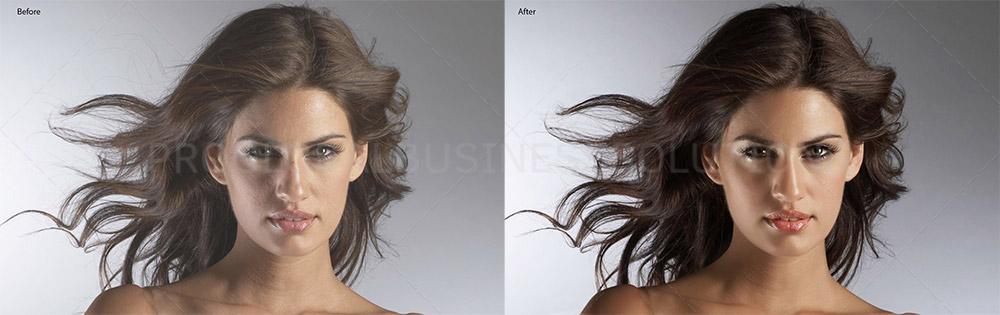 Headshot photo retouching