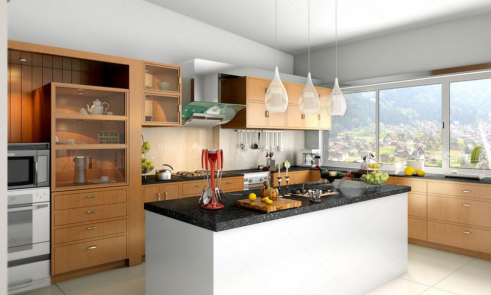 kitchen interior 3d render
