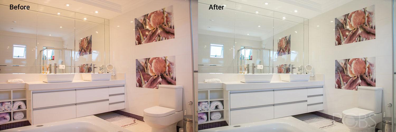 bathroom color correction