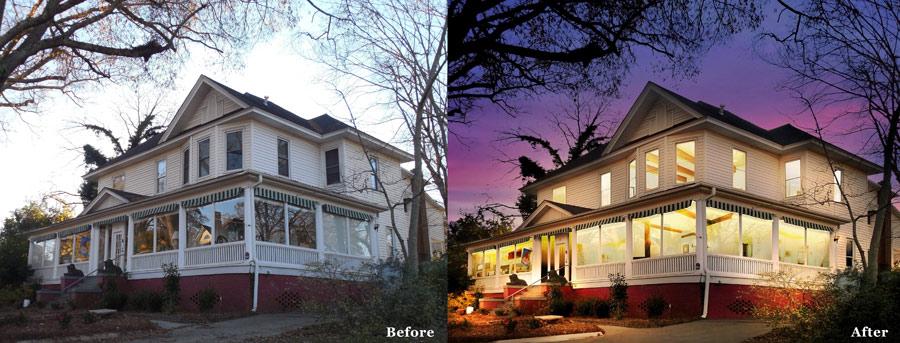 Twilight photo editing services