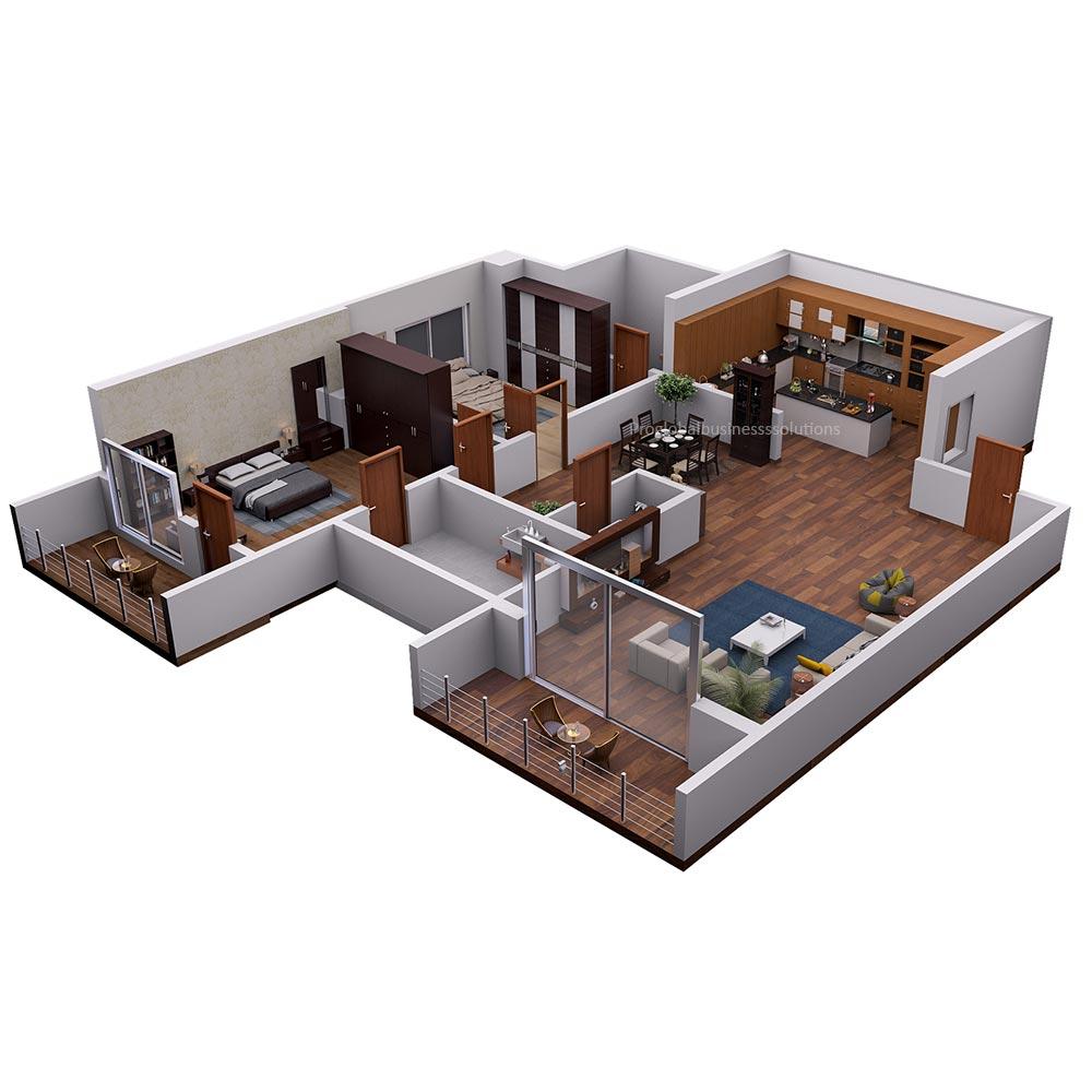 3d isometric floor plan