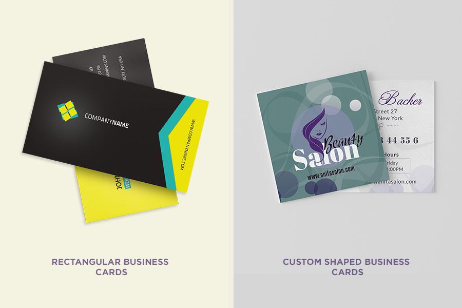 Rectangular Shaped Business Cards