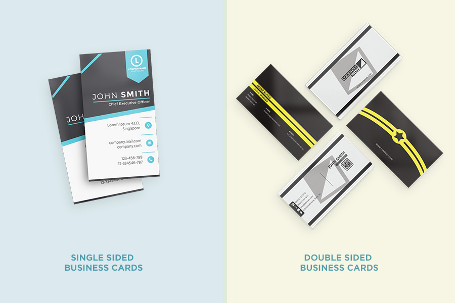single and double sided business cards