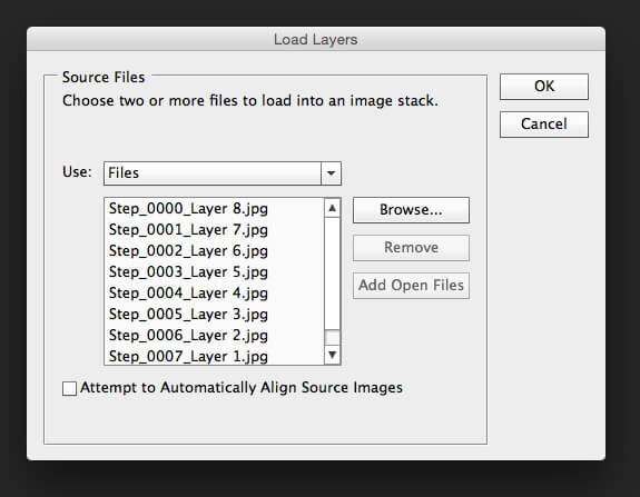 Load Images In Load Layers Option