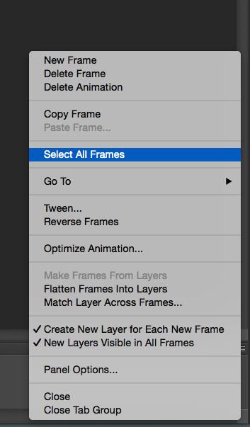Select All Frames Option