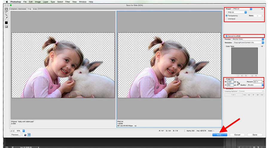 make png image in Photoshop