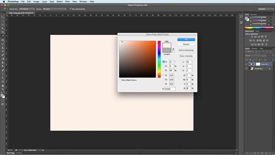 Half white/half black adjustments layer'
