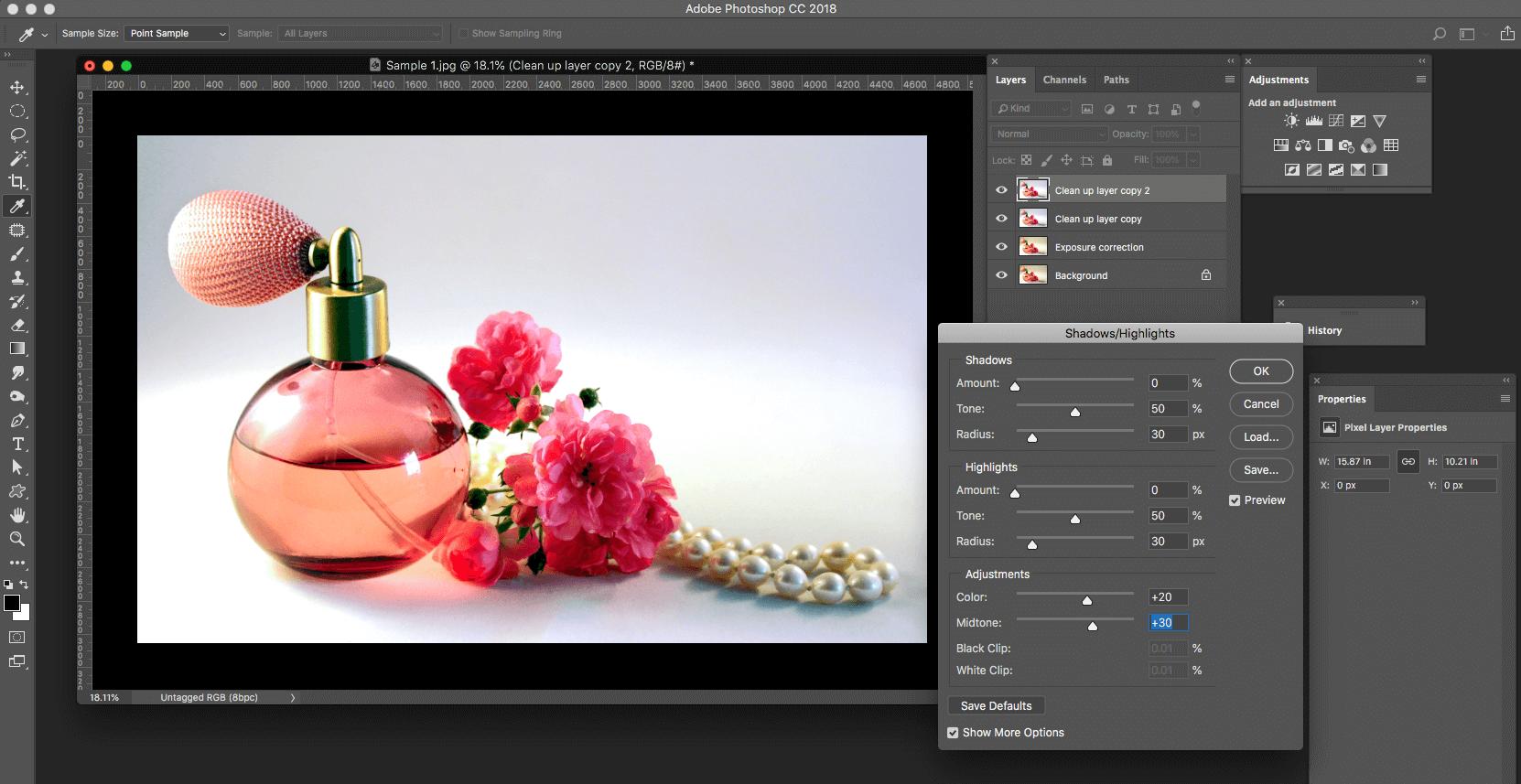 Image contrast adjustment