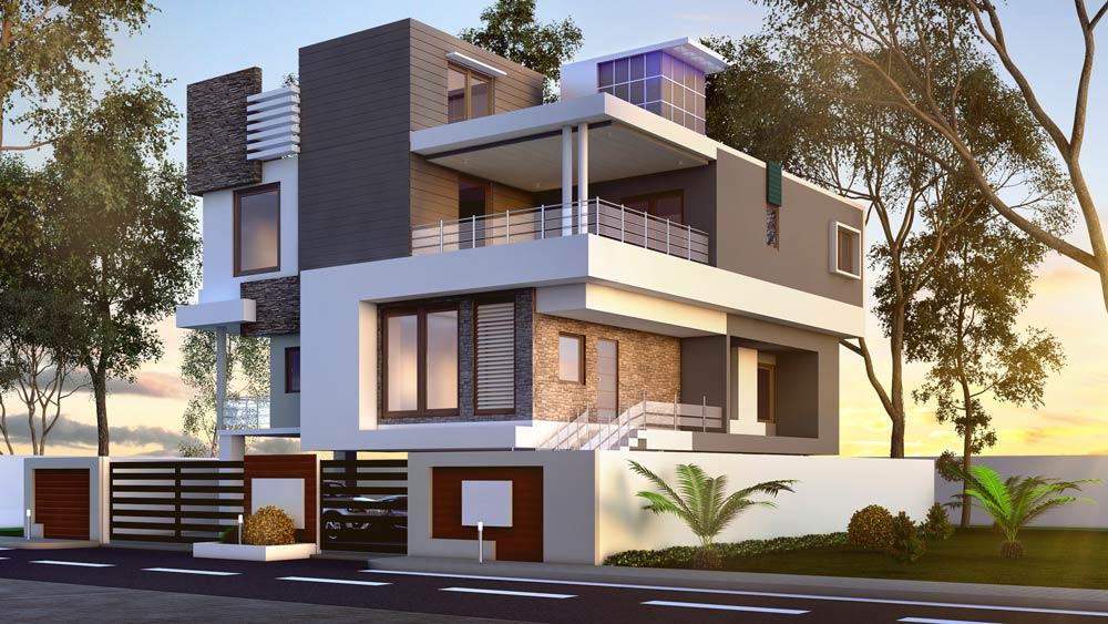 3d bungalow house design