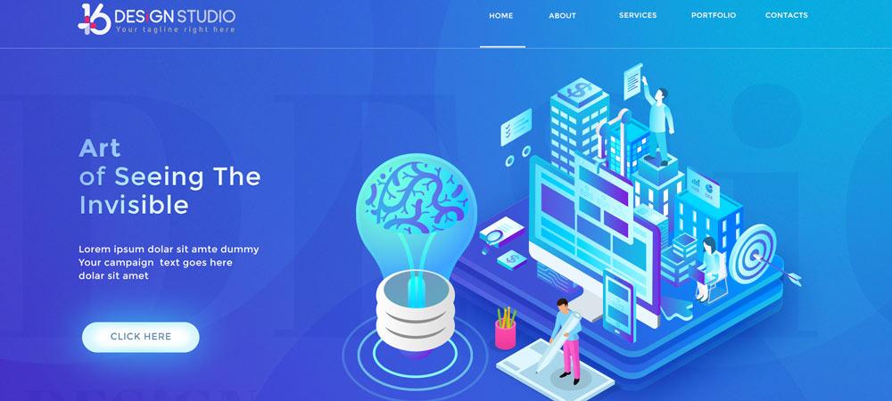 creative website design banner