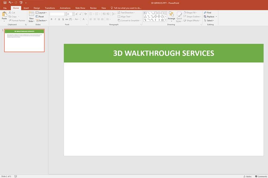 selected presentation slide